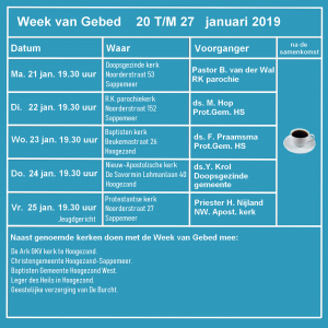 Week Van Gebed Gkv Hoogezand Sappemeer